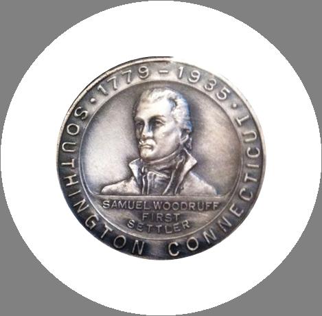 S Woodruff coin white